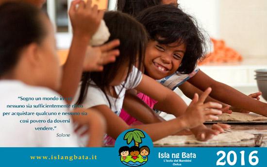 Calendario beneficienza 2016 di Isla ng Bata - L'isola dei Bambini