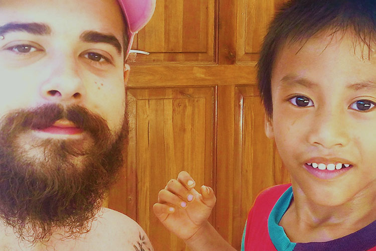 Volontariato-Filippine-Emanuele e Ivan