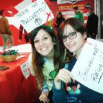 Silvia durante la sua esperienza di volontariato a Natale