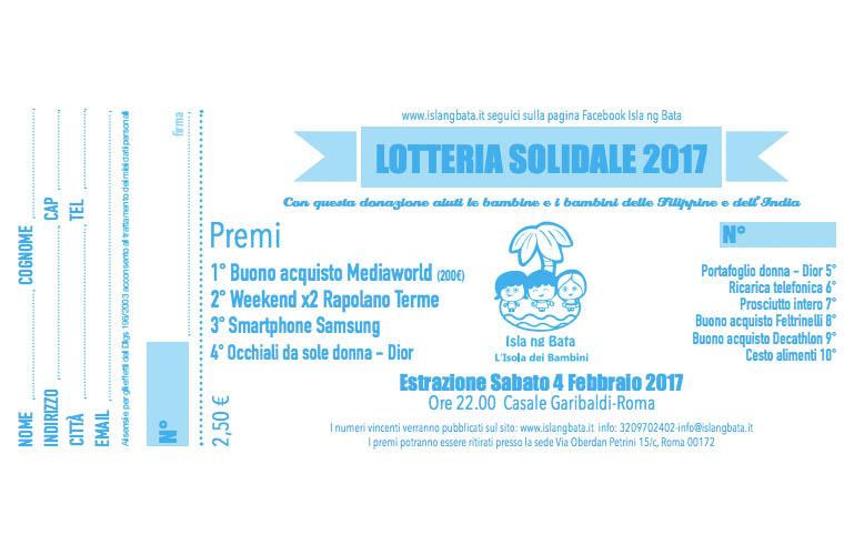 Lotteria solidale 2017